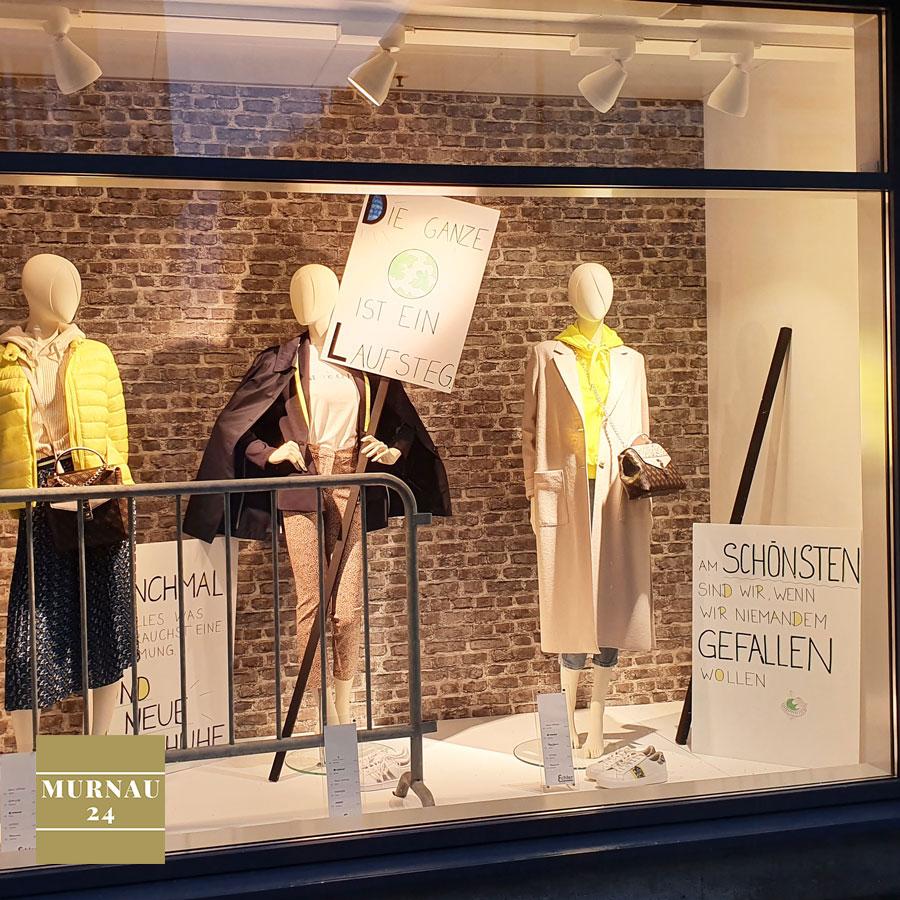 Schaufenster von Echter in Murnau zeigt die aktuellen Trends für den Frühling 2020